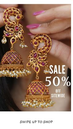 Our biggest sale Flat off Sitewide. - Sales Email - Ideas of Sales Email - Our biggest sale Flat off Sitewide. For orders/enquiries you can whatsapp us at 918447110916 or send us an email at sales Shop: WWW. Indian Jewelry Earrings, Indian Jewelry Sets, Jewelry Design Earrings, Gold Jewellery Design, India Jewelry, Diamond Jewelry, Temple Jewellery, Bridal Jewellery, Jewellery Box