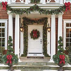 Outdoor Christmas Greenery - Pre Lit Wreaths - Frontgate