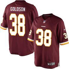Dashon Goldson Youth Elite Burgundy Red Jersey  Nike NFL Washington Redskins  Home  38 d812f6959