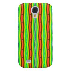 Bright Orange Green Striped Abstract Galaxy S4 Cover