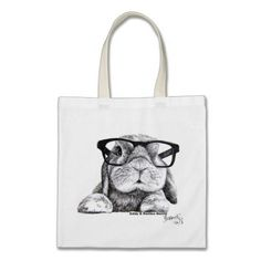 Hipster Rambo Bunny Tote Canvas Bags www.zazzle.co.uk/hipster_rambo_bunny_tote_canvas_bags-149016843552553050?rf=238205274887202706