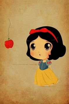 Snow White. Wish I had this on a t shirt!