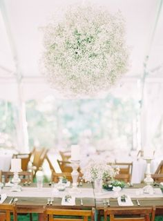 Baby's Breath Chandelier