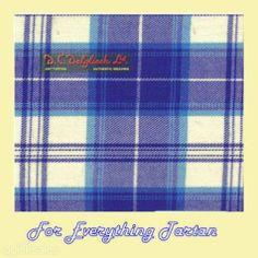 Menzies Dress Royal Blue Dalgliesh Dancing Tartan Wool Fabric 11oz Lightweight  by JMB7339 - $115.00