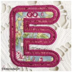 Have You Been Collecting the Free Alphabet?  Create fun banners using the machine embroidery banner alphabet.