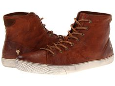 Frye Chambers High Cognac Antique Soft Vintage Full Grain - Zappos.com Free Shipping BOTH Ways
