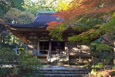 The Kanjodo hall of the Murō-ji temple (室生寺) in Uda mura, Nara ken.