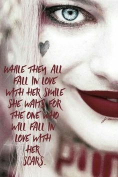 Her scars Harley Quinn Tattoo, Joker And Harley Quinn, Badass Quotes, Sad Quotes, Woman Quotes, Bitch Quotes, Best Quotes, Life Quotes, Joker Quotes