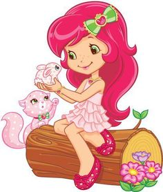 Strawberry Shortcake Cartoon Characters Are On A Transparent Background Strawberry Shortcake Cartoon, Plastic Fou, Cute Images, Coloring Book Pages, Cute Wallpapers, Cartoon Characters, Cute Art, Illustration, Hello Kitty