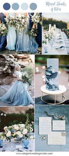 Romantic mixed shades of blue beach wedding inspiration for 2018 trends wedding flowers 10 Prettiest Blue Wedding Color Combos for 2018 & 2019 Beach Wedding Colors, Winter Wedding Colors, Wedding Beach, Trendy Wedding, Winter Weddings, Summer Wedding, Beach Color, Winter Flowers, Red Beach
