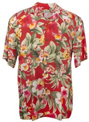 Two Palms - Nani - Hawaiian Aloha Shirt - Red