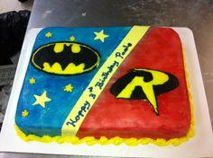 Batman and robin cake!