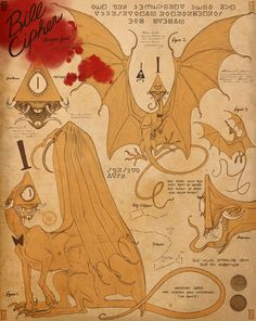 sammymationsart: Bill Cipher Dragon - journal page whoa man this is horrifying<<<But cool at the same time