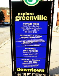 Some of whats going on downtown Greenville SC. all the time, and so much more not listed!!!