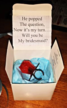Happy Friday Everyone! A big wedding trend lately has been asking your friends to be your bridesmaid in adorably, sweet, amazing ways! (think proposing on a less grand level but with the creative-n…