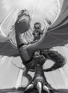 Astrid and Stormfly How to train your dragon