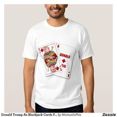 Donald Trump As Blackjack Cards For President Shirt