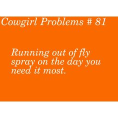 """""""Cowgirl Problems # 81'' GOSH THIS HAPPENS ALL THE TIME. I'm so sorry, Angel! (My little sister's horse)"""