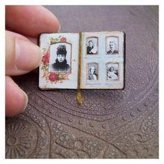 Mini scrapbook met kleine foto's handig om mee te nemen