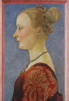 Portrait of a Woman, Italy, 1480, by Piero del Pollaiuolo.