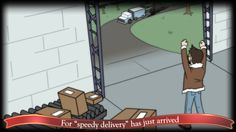 """For """"speedy delivery"""" has just arrived"""