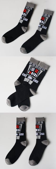 Star Wars robot Socks Street Cosplay Cotton Comics Women Men The Force Awakens Socks Party Novelty Funny Party halloween socks