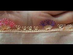İğne oyası modeli yapım videosu - YouTube Needle Lace, Lace Making, Embroidery, Model, Crochet, How To Make, Handmade, Youtube, Jewelry