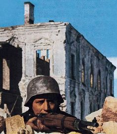 German soldier in Demyansk pocket 1942 - note the VZ24 rifle, pin by Paolo Marzioli