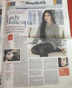 """Grazie a #larepubblica! 😊 n.b.: ho provato a dire a Brian che d'ora in poi deve chiamarmi """"Lady Makeup"""" ma non ha funzionato... #makeup #followback #beauty"""