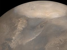 Early Spring Dust Storms at the North Pole of Mars.