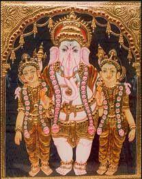Lord Ganesha with Riddhi Siddhi