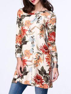 Colorful Split Neck Pocket Floral Plus Size Blouse Blouse Styles, Blouse Designs, Short Kurti Designs, Floral Blouse, Blouse Dress, Stylish Tops For Women, Trendy Suits, Casual Fall Outfits, Casual Dresses