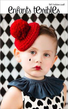 enfants terribles magazine The Fastelav Issue New nordic online Magazine Model: Ella Elvira Dress: H&M Hat: Muggie Moscow Collar: Pierrot La Lune Photographer: Søs Uldall-Ekman