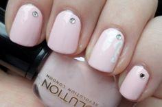 12 Simple Rhinestone Nail Art Designs