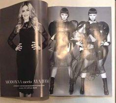Madonna na capa e no recheio da revista L'Officiel, uma das mais comercializadas da Tailândia!