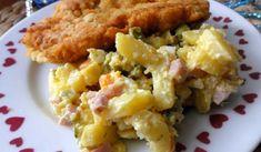 Jak připravit bramborový salát podle rodinného receptu | recept Risotto, Potato Salad, Potatoes, Meat, Chicken, Ethnic Recipes, Food, Beef, Meal