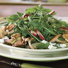 Mushroom, Apple, and Goat Cheese Salad    myrecipes.com