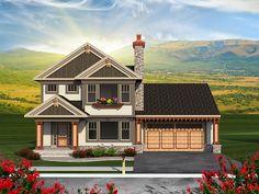 ePlans Craftsman Style House Plan – Three Bedroom With Craftsman Appeal – 1870 Square Feet and 3 Bedrooms from ePlans – House Plan Code HWEPL77268