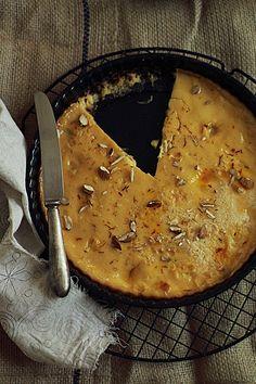 Saffron Almond Custard