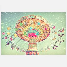 """Cosmic Carnival"" 12x8, vintage photograph, from Santa Cruz, CA.  Reg $28.00, Now $24, on Fab, (8/18/2013). Taken by Photographer Shannon Clark of S.S.C. photography. SSC Photography also on Etsy."