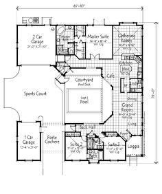 Home Plans HOMEPW73055 - 2,487 Square Feet, 3 Bedroom 3 Bathroom Country Home with 2 Garage Bays