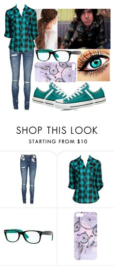 """""""youtube video with phil"""" by ccs-supercutegirl4 ❤ liked on Polyvore featuring Vero Moda, Forever 21, Ray-Ban, With Love From CA and Converse"""