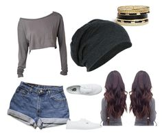 """Untitled #66"" by mkcorniel on Polyvore featuring GUESS and Vans"
