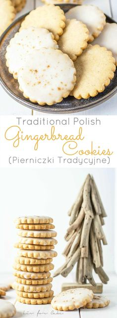 A European spin on a holiday classic! These traditional Polish gingerbread cookies use a sticky sweet substitute instead of the conventional molasses. | livforcake.com via @livforcake