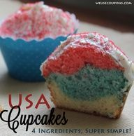 Patriotic Cupcake Recipe! Great for July 4th, Veterans Day and Memorial Day!