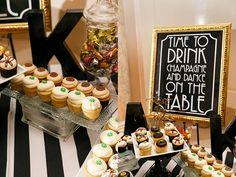 DIY art deco black & gold wedding details | Cait & Bill's black and gold, DIY Washington DC wedding at Carnegie Institution for Science | Images: Stephen Gosling Photography