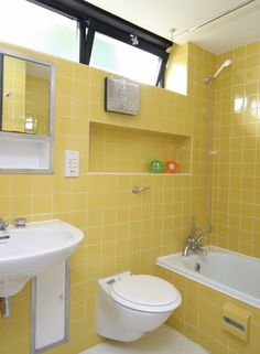 Vista Point is a large Grade II-listed house with extensive gardens leading  directly to · Yellow Tile BathroomsRetro ...