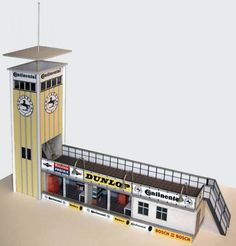 The old Conti Tower – made of cardboard in Scale 1:32