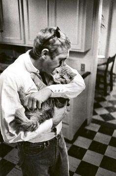 Steve McQueen 1963 - proves real men aren't afraid to show they care