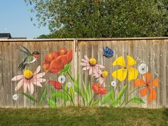 Garden Mural, Garden Deco, Backyard Fences, Outdoor Landscaping, Farmhouse Paintings, Art Shed, Fence Painting, Outdoor Wall Art, Reclaimed Wood Art